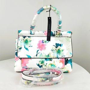 Love & Lore flap satchel flower purse